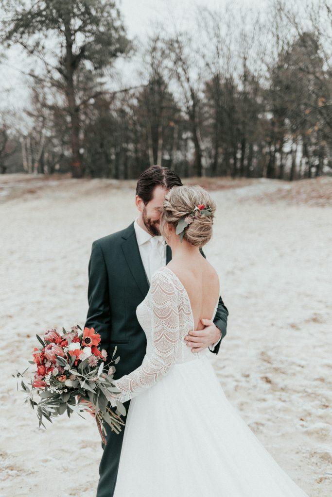 trouwen in het bos