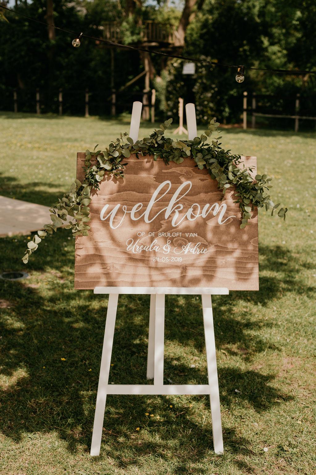 trouwen in de tuin